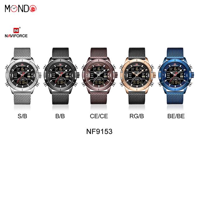خرید اینترنتی ساعت مچی عقربه ای مردانه نیوی فورس مدل NF9153